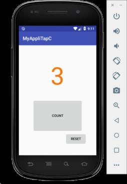【Mac・Android Studio】タップカウンターを作ってみる その4