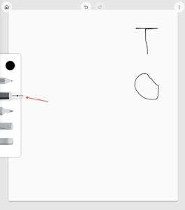Google描画キャンバス 万年筆
