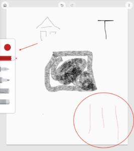 Google描画キャンバス 赤鉛筆