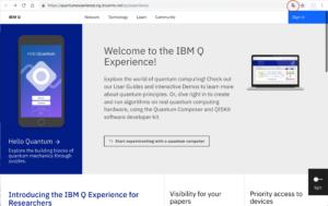IBM Quantum Computing ログイン前