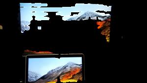 物体認識切り抜きで透過画像作成 テレビ切り抜き
