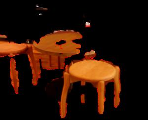 物体認識切り抜きで透過画像作成 椅子の切り取り