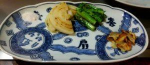 「喜扇亭」 野菜 にんにく