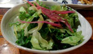 「喜扇亭」 サラダ