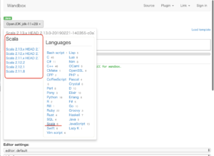 オンラインコーディングサイト Scala