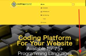 オンラインコーディングサイト codingground