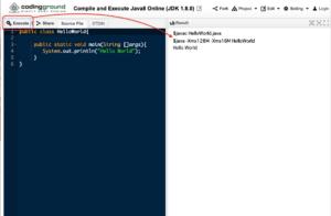 オンラインコーディングサイト Java選択