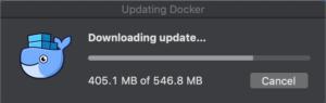 Docker バージョンアップとエラー インストール開始
