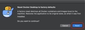 Docker バージョンアップとエラー reset