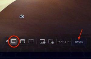スクリーンショットと収録のオプション 全体画像