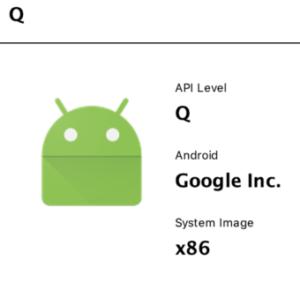 【Android Studio】AndroidQをインストールしたエミュレーターを作成する