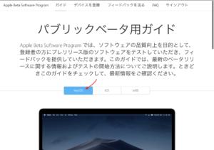 Apple Beta Software Program登録 サインイン
