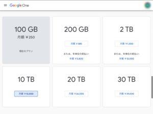Google One 最高容量