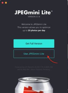JPEGmini Light 無料版