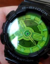 電池の切れたカシオ時計を「お急ぎ電池交換サービス」に持っていく