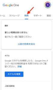 Google One 特典