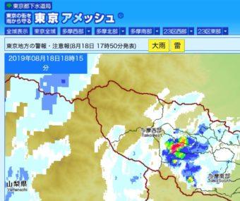 雨雲の動きが見える!東京都下水道局の「東京アメッシュ」を使う