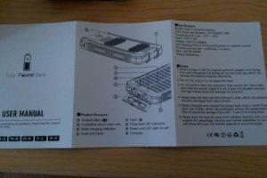soluser ソーラーバッテリー モバイルバッテリーソーラーチャージャー  説明書1