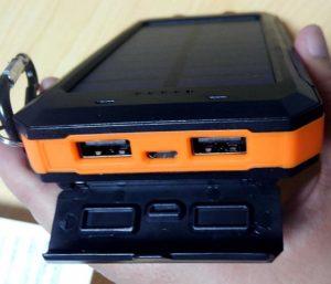 soluser ソーラーバッテリー モバイルバッテリーソーラーチャージャー  USB
