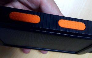 soluser ソーラーバッテリー モバイルバッテリーソーラーチャージャー  オレンジゴム