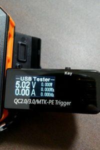 COOWOOのUSB電流電圧テスター チェッカー スイッチON