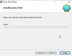 OpenShell インストール中