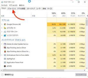 Windows仮想記憶 パフォーマンス