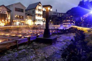 草津温泉 観光 夜