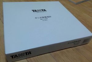 TANITA体組成計 箱