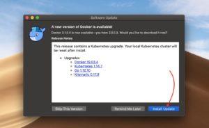 Intego VirusBarrier Scannerマルウェア Dockerアップデート