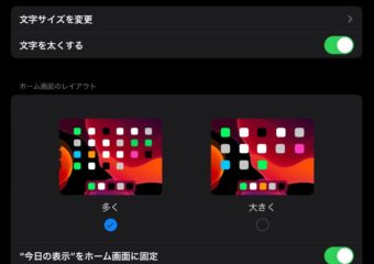 【iPadOS】iPadの画面レイアウトや文字の大きさを変更する