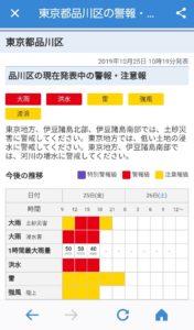 Yahoo防災アラート 最新情報詳細