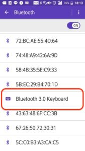 Bluetooth3.0 Keyboard 一覧表示