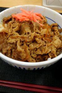なか卯牛丼セット 紅生姜