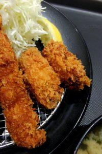 松のや 青物横丁店で海鮮盛合せ定食 牡蠣