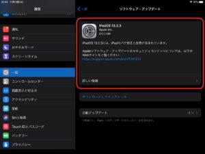 ipados 13.2.3 確認