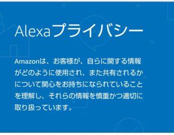 【アレクサ】知っておくのもアリかも!Alexaの音声履歴を削除する