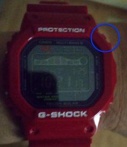 G-SHOCK「GWX-5600C-4JF」 ライト点灯