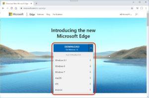 Chromium版Microsoft Edge 他のOS