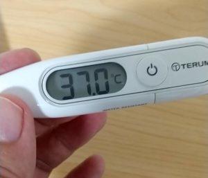 電子体温計ET-P265WZ 実測結果