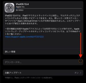 iPadOS 13.4アップデート 前マウスポインタ