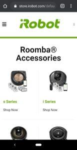 iRobotアプリお手入れ 商品ページ