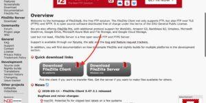 FileZilla Mac 公式ページ