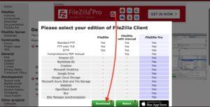 FileZilla Mac 通常