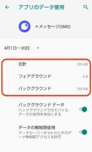 Androidデータ容量 データ使用量2