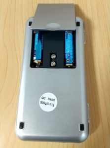 デジタルポケットスケール 電池