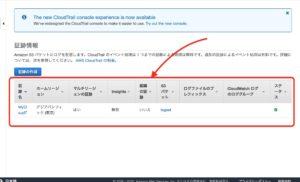 AWS CloudTrail 証跡情報完成
