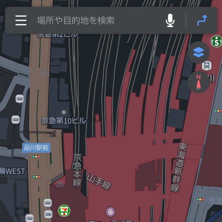 【Android】真っ黒な地図が!?Yahoo! MAPの「ダークテーマ」切り替えを使ってみる