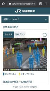 JR東日本アプリ 駅混雑