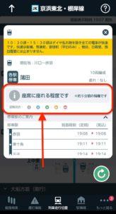JR東日本アプリ 混雑アイコン